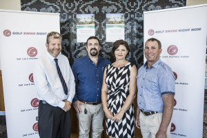 Pic 1 - International launch celebrations with Noel Jago, media support, Zane Newman, sales manager, Anita Bast-Cook CEO and Greg Cook