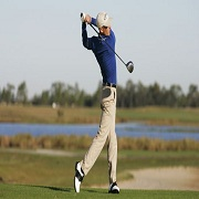 Maintain your center of gravity in Golf