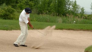 TAKE A GOOD BUNKER SHOT