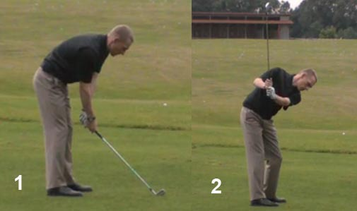 Knees Bend in Golf